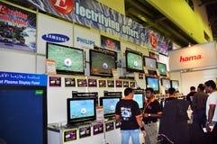 för emaxgitex för 2008 skärm shoppare för lcd Royaltyfri Bild