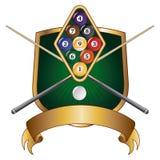 För Emblemdesign för nio boll sköld Royaltyfri Bild