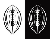 För emblemsymbol för amerikansk fotboll illustration stock illustrationer