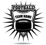 För emblemsymbol för amerikansk fotboll sköld Royaltyfria Bilder