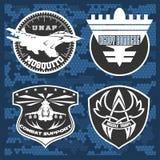 För emblemuppsättning för flygvapen militär mall för design för vektor Arkivfoto