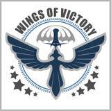 För emblemvektor för special enhet militär mall för design Royaltyfri Fotografi