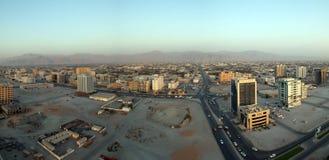 för emirateskhaimah för al förenade arabiska arial ras sikt Fotografering för Bildbyråer