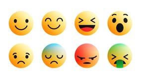för Emoji för vektor 3D modern uppsättning symboler royaltyfri illustrationer