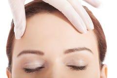 För en kosmetisk kirurgi Royaltyfria Foton