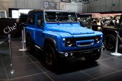 För End' för 'The för Chelsea Truck Company Land Rover försvarare 90 Genève 2017 upplaga Arkivbild
