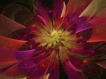 för energidesignen för blomman plaskar psykedeliskt abstrakt sken för modellen för stil royaltyfri illustrationer