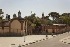 För ¼engelsk aln för paviljonger GÃ gods i Barcelona Royaltyfria Foton