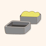 För enhetstema för Kitchenware stekhet vektor för beståndsdelar, eps Arkivfoton
