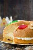 För epiphanykaka för spanjor typisk Roscon de Reyes för ` `, fotografering för bildbyråer