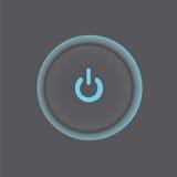 för eps-format för 10 knapp vektor för ström för illustration Arkivbilder