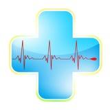 för eps-hjärta för 8 kors läkarundersökning Arkivfoto