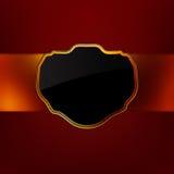 för eps-ram för 8 bakgrund wave för tappning för guld röd Arkivfoton