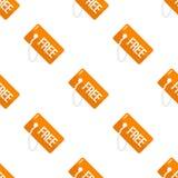 För etikettslägenhet för apelsin sömlös modell för fri symbol Arkivfoton