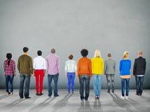 För etnicitetenhet för olik mångfald etniskt begrepp för variation Arkivbilder