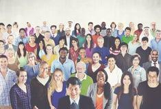 För etnicitetsamhörighetskänsla för olik mångfald etniskt begrepp för enhet Arkivbild