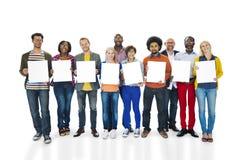 För etnicitetvariation för olik mångfald etnisk enhet Team Concept Royaltyfria Bilder