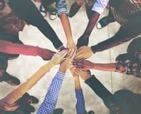 För etnicitetvariation för olik mångfald etnisk enhet Team Concept Arkivbild
