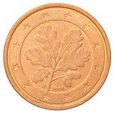 För eurocent för mynt sida tillbaka Royaltyfria Bilder