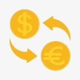 för euroutbyte för härlig valuta 3d dimensionellt diagram illustration tre mycket Euro och dollar också vektor för coreldrawillus Fotografering för Bildbyråer