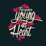 För evigt som är ung på hjärta royaltyfri illustrationer