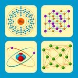 För evolutionliv för molekylär struktur medicinsk illustration för vektor för formel för mikrobiologi för bioteknik Arkivbild