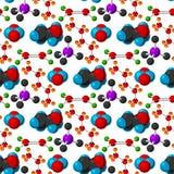 För evolutionliv för molekylär struktur vektor för bakgrund för modell för medicinsk för bioteknik formel för mikrobiologi sömlös Royaltyfri Fotografi