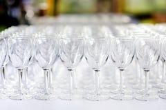 för exponeringsglas wine mycket Arkivfoton