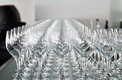 för exponeringsglas wine mycket Arkivbild