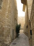 för extern gammal vägg jerusalem för stad minaret Arkivbilder