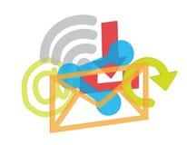 för färgbegrepp för bakgrund blåa internet Arkivbild