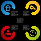 För färgbeståndsdelar för information grafisk bakgrund Royaltyfria Bilder
