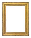 För färgbild för tappning guld- ram Fotografering för Bildbyråer