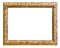 För färgbild för tappning guld- ram Arkivbild