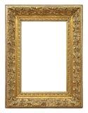 För färgbild för tappning guld- ram Arkivfoton