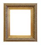 För färgbild för tappning guld- ram Royaltyfri Foto