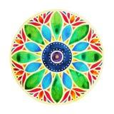 För färgchakra för makt 7 symbol för tecken, färgrikt symbol för lotusblommablomma Fotografering för Bildbyråer