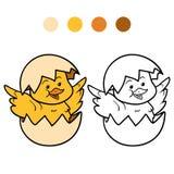 för färgläggningdiagram för bok färgrik illustration stock illustrationer