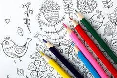 för färgläggningdiagram för bok färgrik illustration arkivbilder