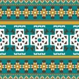 För färgmodell för sömlös vektor geometrisk bakgrund royaltyfri illustrationer