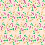 För färgrik geometrisk bakgrund blommavektor för sommar vektor illustrationer