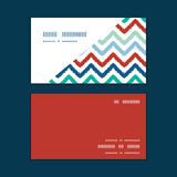 För färgrik horisontalhörn ikatsparre för vektor royaltyfri illustrationer