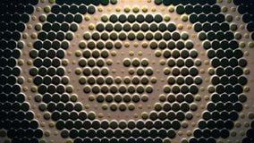 För färgspiral för lera dynamiskt livligt för abstrakt mjuk för cirklar för form retro för stil rörelse för bakgrund ny kvalitets stock video