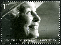 För födelsedagporto för drottning Elizabeth II 80th stämpel Arkivbilder