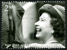 För födelsedagporto för drottning Elizabeth II 80th stämpel Royaltyfri Fotografi