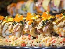 För förälskelsen av japansk mat fotografering för bildbyråer