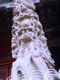  för ¼ för connotationï för kinesQufu stad kulturell som stenpelarna av draken planlägger Royaltyfria Bilder
