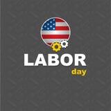 För för för för logoaffisch, baner, broschyr eller reklamblad för arbets- dag design med lycklig arbets- dag för stilfull text Royaltyfri Bild