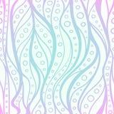 För för modellblått och rosa färger för vektor sömlösa vågor Arkivfoto