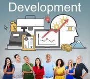 För förbättringsledning för utveckling finansiellt begrepp arkivfoto